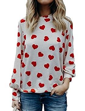 K-youth® Mujer Blusa de Manga Larga Camisetas Deporte Mujer Ropa de Mujer EN Oferta Moda Casual Tops Blusas de...