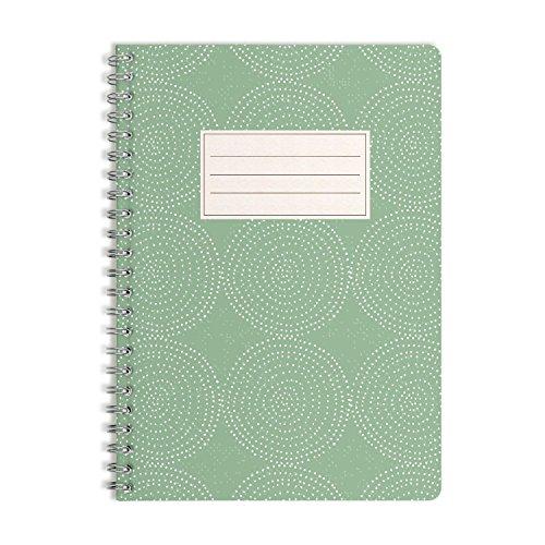 WIREBOOKS Notizbuch | Notizblock | Notizheft | Spiralblock 5028 DIN A5 120 Seiten 100g Papier liniert