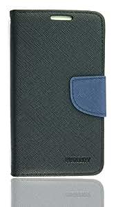Purple Eyes Generic Mercury Wallet Flip case cover pouch For Samsung Galaxy S2 i9100 Black/D.Blue