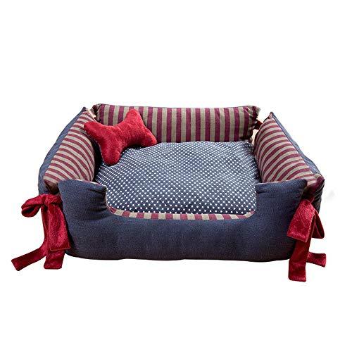 Boymlx impermeabile in cotone pp di alta qualità quadrato, s: 50 * 40 * 17cm, stelle cuccia/letto per animali domesticicani gatti cuccia con per casa sacco a pelo cuscino per cane interno cuscini