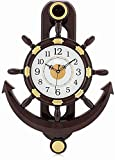 #5: CARTNEY Decorative Retro Anchor Copper Pendulum Wall Clock - CTWC101
