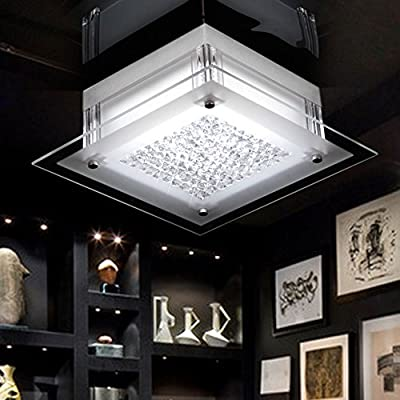 LICHT-TREND LED-Deckenlampe mit Glaskristallen / 12 Watt / 28x28 cm / chrom von Licht-Design Skapetze bei Lampenhans.de