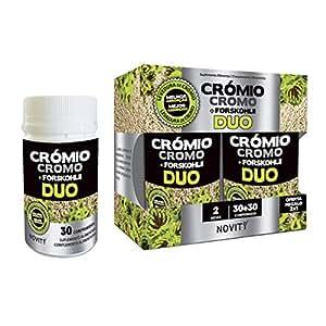 CHROME + FORSKOHLII (FORSKOLIN) DUO– Brûle-graisses naturel, inhibiteur de l'appétit avec un effet rassasiant, aide à perdre du poids