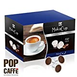 100 CAPSULE POP CAFFÈ MOKA CUP MISCELA 2 CREMOSO COMPATIBILI UNO SYSTEM ILLY KIMBO