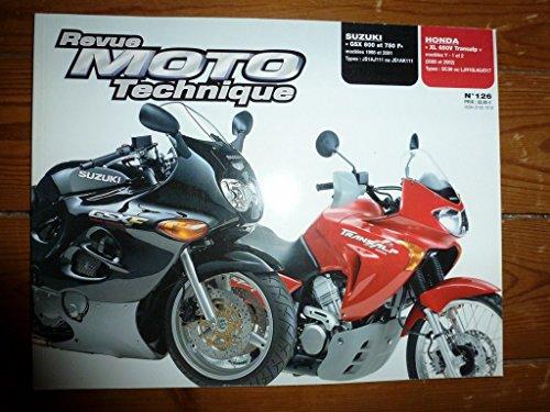 RRMT0126.1 REVUE TECHNIQUE MOTO - HONDA XL650V TRANSALP - SUZUKI GSX600F et GSX750F