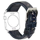 Apple Watch Armband 42mm, COCASES Büffelleder Lederarmband Ersatzarmband mit Edelstahlverschluss...
