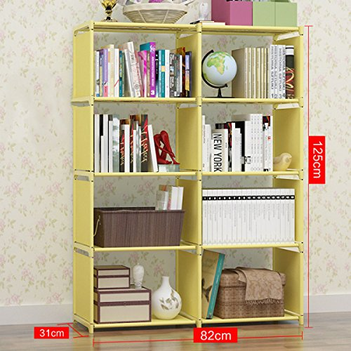 GEXING Double Rangée Amovible De Bibliothèques Pour Améliorer La Collection D'étages Multifonctions Pour Bibliothèque,C-82*31*125cm