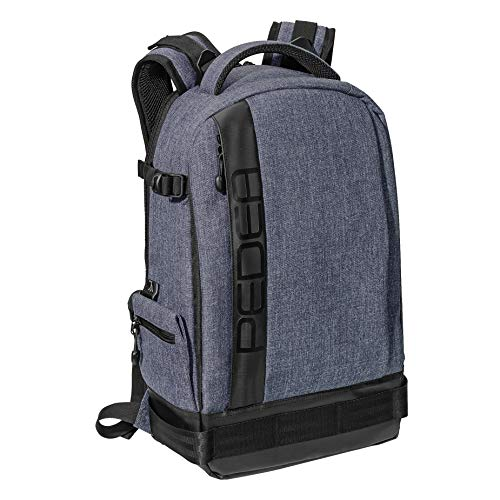 """PEDEA DSLR-Kamerarucksack """"Fashion"""" Fotorucksack für Spiegelreflexkameras mit wasserdichtem Regenschutz und variabler Inneneinteilung, grau"""