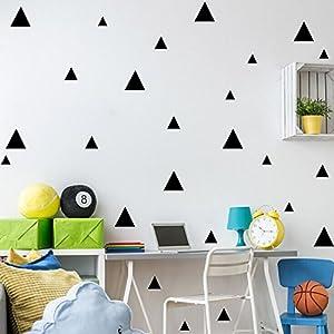 wandaufkleber wandtattoos Ronamick DIY Wand Einfache und kreative Multi-Größe Dreiecke entfernbare Wandtattoo Wandaufkleber Sticker Wanddeko (Schwarz)
