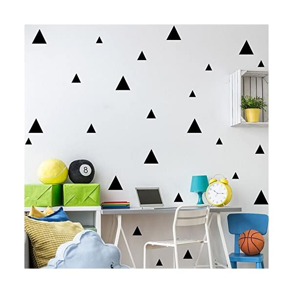 DIY Bedroom Living Room Childrens Room Wall Simple And Creative Multi Size Triangle Removable Wall Stickers
