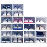 Boîte à chaussures Fetcoi 20 pièces tiroir organisateur pliable boîtes de rangement visibles anti-poussière pour dames…