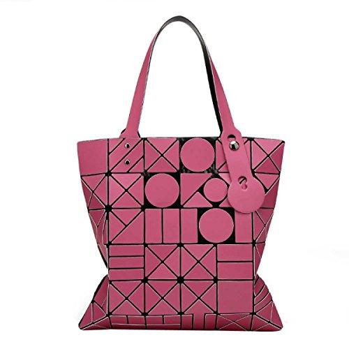 Spalla Geometrica Pacchetto Borsa Della Borsa Delle Donne Pink