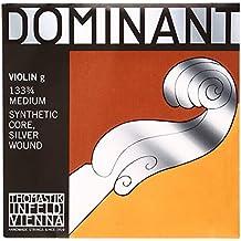 Dominant Strings 133-3/4 - Cuerda para violín de entorchado plateado en Sol, 3/4