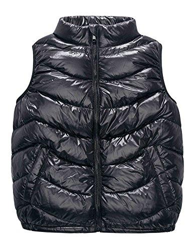 Ultra Leichte Daunenweste Jungen Mädchen, Winddicht Packbar Im Freien Steppweste mit Taschen, Winddicht&Wasserdicht ärmellose Jacke