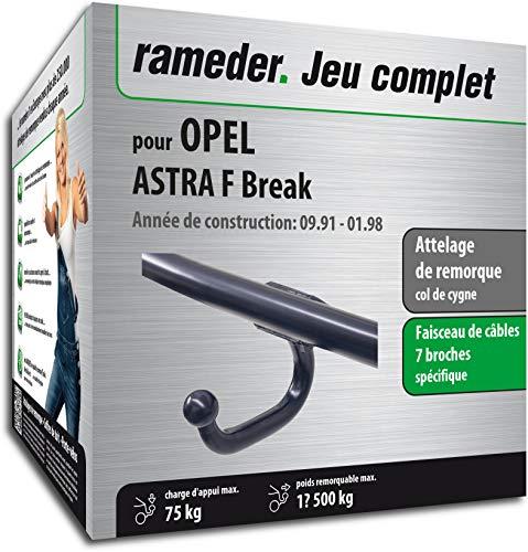 Rameder Attelage soudé pour Opel Astra F Break + Faisceau 7 Broches (134190-03440-2-FR)