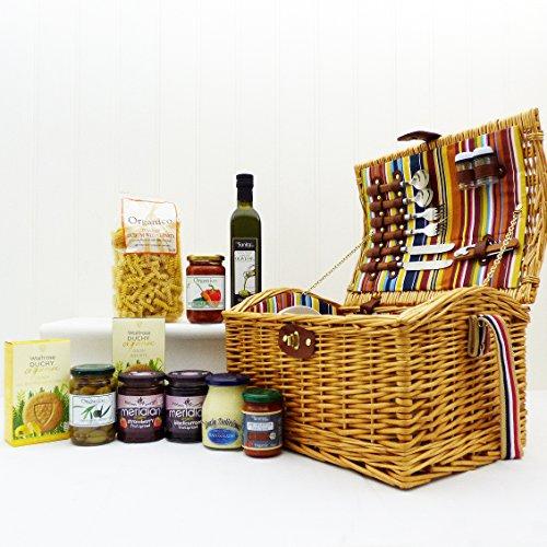 Luxury 2 Person Newgrove Organic Fine Food Picnic Hamper Basket - Gift Ideas