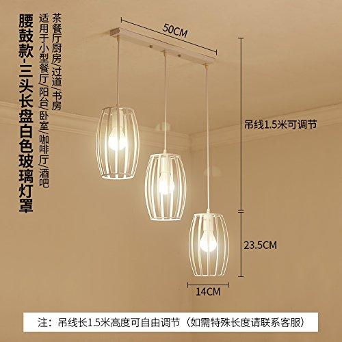 BESPD Creative industrial wind Schlafzimmer einfache moderne Gang Mahlzeit hängenden Hängeleuchte Kronleuchter Deckenlampe kamel Taille drum-3 -