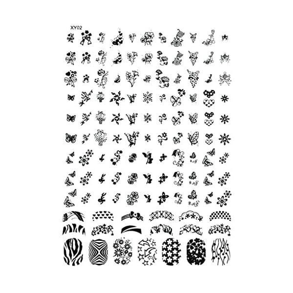 Zerama Las Placas de estampación uñas de Halloween Nail Art Plantilla Sello Ghost Bat Flores Sello Placa de la Imagen
