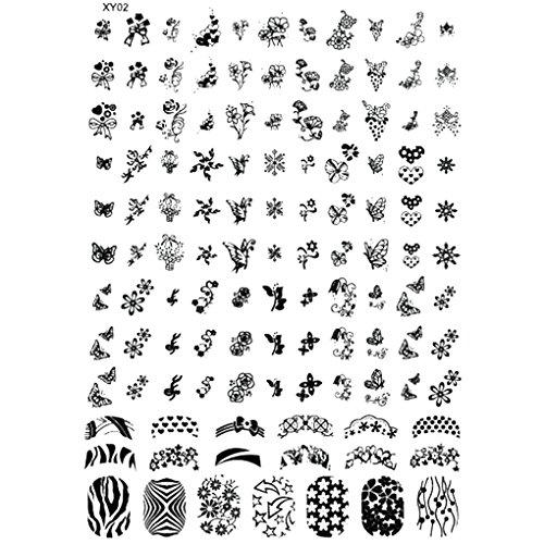 censhaorme Nail Stamping Plates Halloween-Nagel-Kunst-Stempel-Schablone Geist-Schläger Blumen Bild Stempelplatte