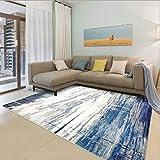 Bin Bin Hochwertiger Teppich, Blaue und Weiße Polypropylen-Bodenmatte, Rechteckig,0.8 * 1.5M