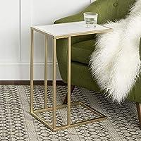 مجموعة طاولات قهوة عصرية دائرية باحجام تدريجية اثاث لتزيين غرفة المعيشة من ووكر اديسون Rectangle C Table Marble/Gold