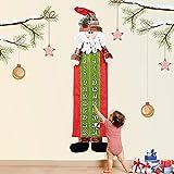 ginkago Adventskalender zum Befüllen, 24 Stoffsäckchen zum Selbstbefüllen und Aufhängen Jutesäckchen Stoffbeutel Tüten (Santa)