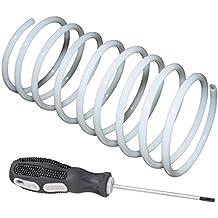 SET Ersatz-Spiral-Schlauch weiß / cremeweiss + Werkzeug 1,5 m geeignet für Munddusche Braun Oral-B + Reparaturanleitung per Mail (DIY)