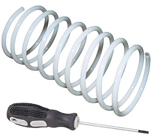 SET Ersatz-Schlauch weiß + Werkzeug 1,5 m geeignet für Munddusche Braun Oral-B, spiralform + Reparaturanleitung