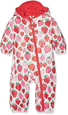 Hatley Baby Girls' Classic Printed Rain Bundler Raincoat, White (Strawberry Sundae), 12-18 Months