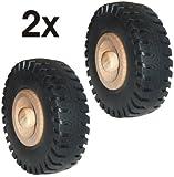 Wagner Holzrad/Ersatzrad / Traktorrad / 2tlg. Set - Holz/Kunststoff, Durchmesser 72 mm, inkl. Holzsteckstift - 01607102