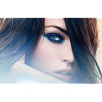 Megan Fox 214 Waterproof Plastic Poster Poster di Plastica Impermeabile - Anti-Fade - Possono utilizzare su Outdoor/Giardino/Bagno