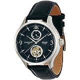 Thomas Earnshaw ES-8023-01 - Reloj para hombre con esfera analógica de color negro y correa de cuero negra