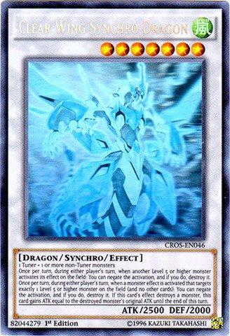 Yu-Gi-Oh! - Clear Wing Synchro Dragon (CROS-EN046) - Crossed Souls - 1st Edition - Ghost Rare by Yu-Gi-Oh!