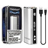 Batteria, THORVAP® MYBOX 40W TC Box Mod una batteria da 2200mAh Incorporata, Controllo della Temperatura, Schermo OLED HD - Prodotto senza Nicotina né tabacco, No Liquido (Argento)