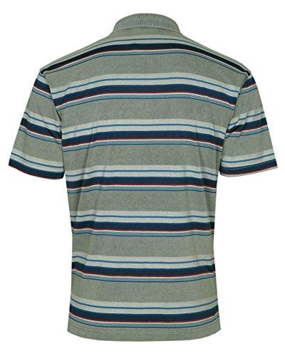 REALLY POINT Premium Poloshirts IM Ringellook Olive