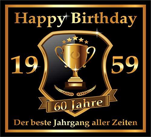 RAHMENLOS 3 St. Aufkleber zum 60. Geburtstag: 1959 der Beste Jahrgang Aller Zeiten - Selbstklebendes Flaschen-Etikett. Original Design