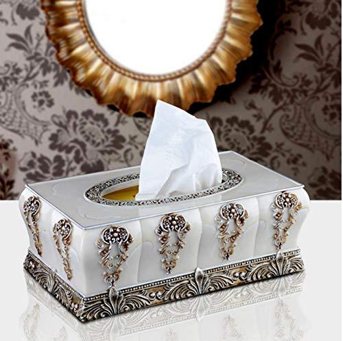 asdfkong Barock Relief Kreative Tissue-Box Europäischen Hochwertigen Harz Retro Königin Pump...