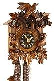 Orologio a cucù originale nero foreste Cuculo Orologio meccanico in vero legno 1giorno unità nuovo Certificato VDS Eble-Tre Uccello 23cm di 20-06-12-10