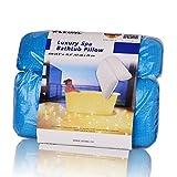 (Versione Migliorata)LEONC Spa vasca da bagno Cuscini Forte posteriore Ventose Testa Collo e Spalle in Memory Foam Cuscino rilassante vasca