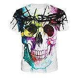Ularma 2016 Mens Camisetas, impresión 3D del cráneo colorida, Moda ...