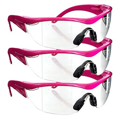 r Safety Glasses (3 Pair-Pink Frame-Clear Lense) by Online Stores Inc (Kid Store Online)