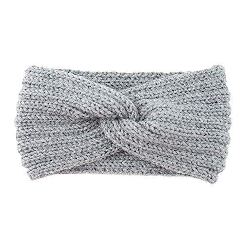 TAOtTAO Gestrickte Woll Haarband Querschnitt Frauen gestrickte Stirnband häkeln Winter wärmer Lady Haarband Haarband Headwrap (F) -