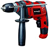 Einhell Schlagbohrmaschine TC-ID 550 E (550 W, Drehzahlregelelektronik, Drehzahlvorwahl, Rechts-/Linkslauf, Metall-Tiefenanschlag, Zusatzhandgriff)
