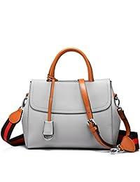 Womens Handbag Shoulder Bag Designer Purse Top Handle Satchel Travel Bag Structured Bag Grey By Lovevook