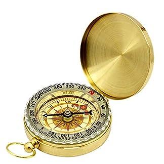CBA BING Multifuncional Brújula, Senderismo para Acampar Reloj de Bolsillo portátil Brújula abatible Herramientas de navegación para Exteriores, Regla compacta Medir Grados Acampar Trekking