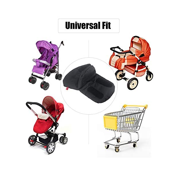 """Stroller Hand Muff, Dreamiracle Winter Warm Waterproof Gloves for Parents, Baby Pram Stroller Accessory, Anti-Freeze, Black Dreamiracle 【Warm Reminder】The Dreamiracle Stroller Hand Muff is SOLD BY """"Dreamiracle EU"""" Originally, Please choose the RIGHT Sellers and boycott the FAKE items from """"other sellers""""! We committeed to provide you the highest quality product and best customer service. If you're unhappy with our product, please feel free to contact us! 【Top Quality and Durable】Made of top-class and soft material, the hand muff is breathable and not easy to be out of shape. Thicker design make it waterproof and windproof, ensuring to keep your hands warm even in the cold winter days while outdoors without being restricted. 【Convenient to Use】Large size(7.5*12.2*1.2 in) makes it wide enough for you to put your hands with your coat into the glove, more convenient than pulling off mittens each time you need free your hands. 4"""
