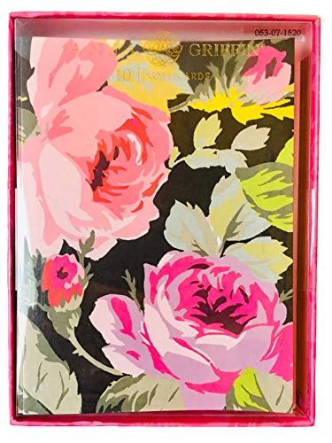 Anna Griffin Floral Collection (Anna Griffin Grace Rose Grußkarten mit Umschlägen, blanko, Schwarz, 10 Stück)