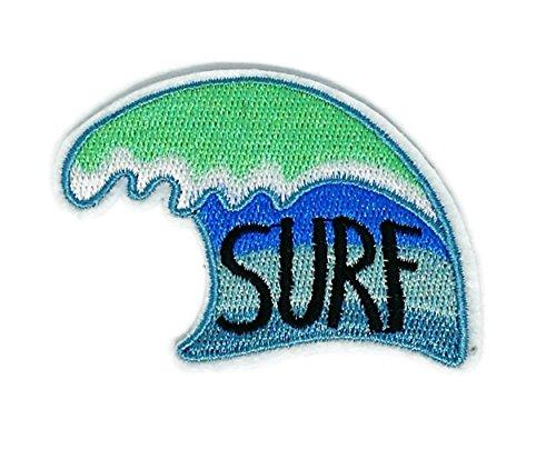 Surf, Wassersport, handgefertigt, für Babys, Mädchen, Damen, Cartoon-Motiv, bestickt, Aufnäher zum Aufbügeln/Aufnähen, bestickt, zum Aufbügeln, für Kostüm Zubehör