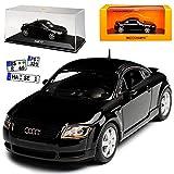 alles-meine GmbH Audi TT 8N Coupe Schwarz 1. Generation 1998-2006 1/43 Minichamps Maxichamps Modell Auto mit individiuellem Wunschkennzeichen