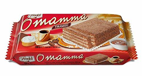 O'Mamma Tiramisu Torta Farcita al Gusto Tiramisu 300G - [confezione da (Torta Di Quattro Strati)